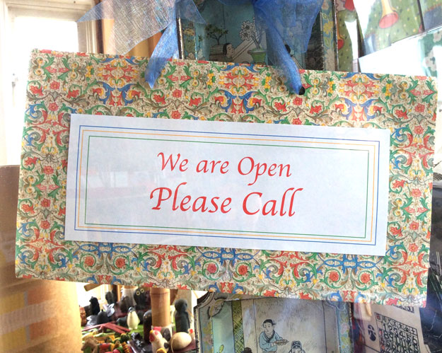 We Are Open Please Call