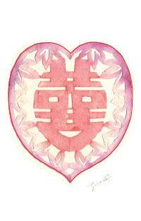 Papercut Heart Face